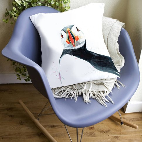 Inky Puffin Large Luxury Cushion And Inner