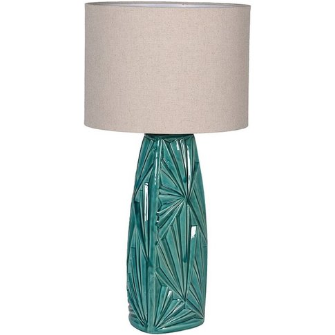 Green Palm Table Lamp