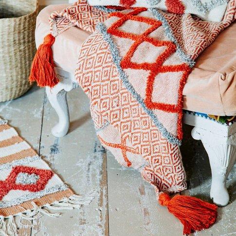 Earthy Tones Cotton Blanket Throw