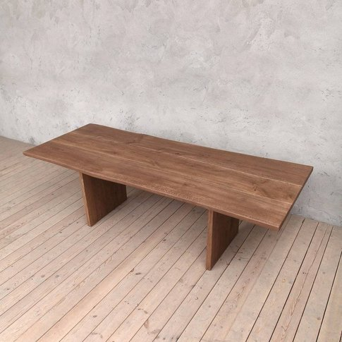 Millennium Oak Dining Table With Slab Legs