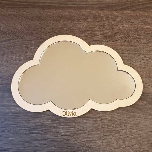 Childrens Personalised Cloud Mirror