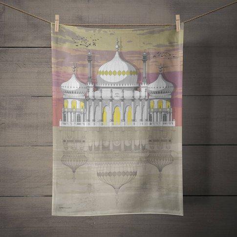 Brighton Pavilion Sunset Tea Towel