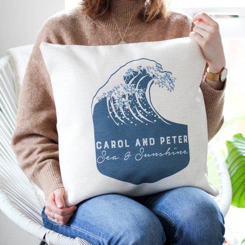 Personalised Wave Cushion