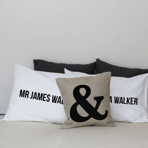 Personalised Wedding Pillow Cases With Names