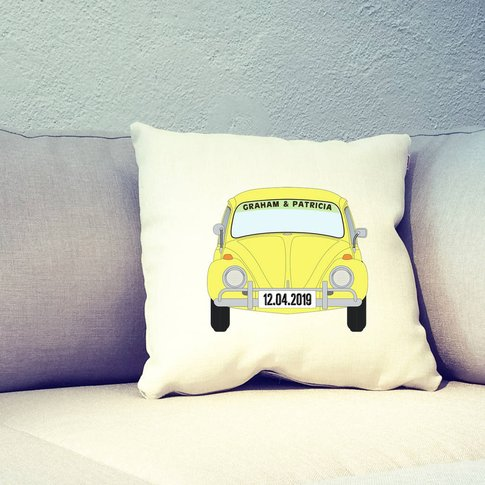 Personalised Beetle Car Cushion Cover