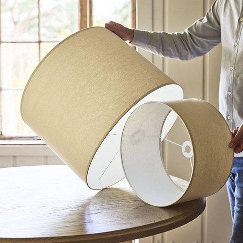 Natural Cotton Drum Shade