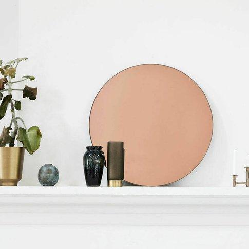 Rose Gold Tint Wall Mirror