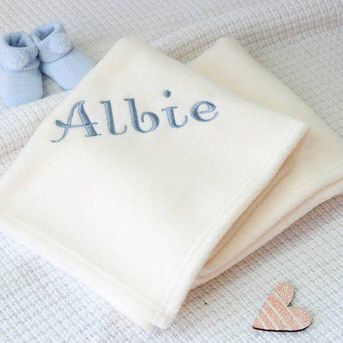 Personalised Ivory Fleece Blanket