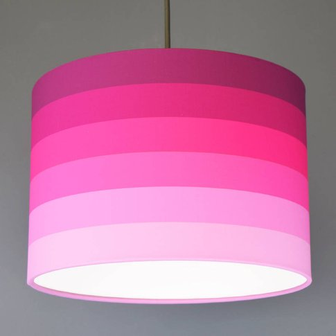 Tonal Fade Stripe Lampshade In Choice Of Colours, Pi...