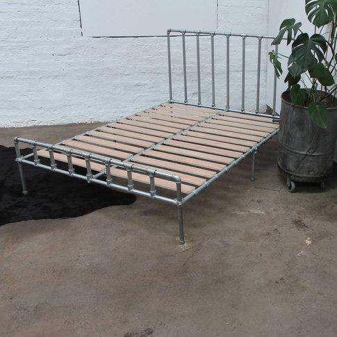 Rackham Galvanised Industrial Kingsize Bed Frame