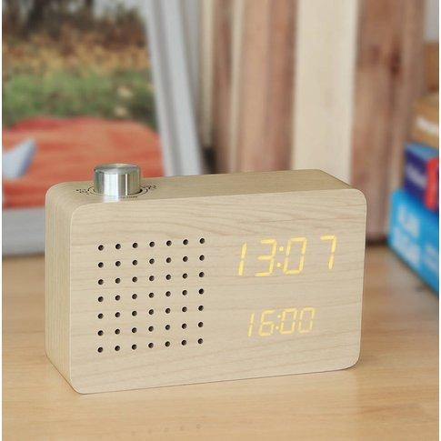 Maple Radio Click Clock