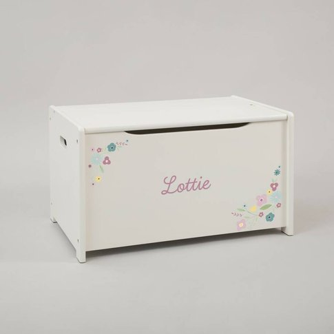 Personalised Floral Design Toy Box