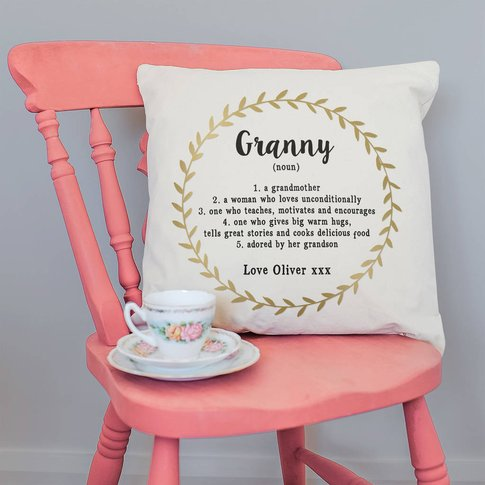 Personalised Cushion For Granny