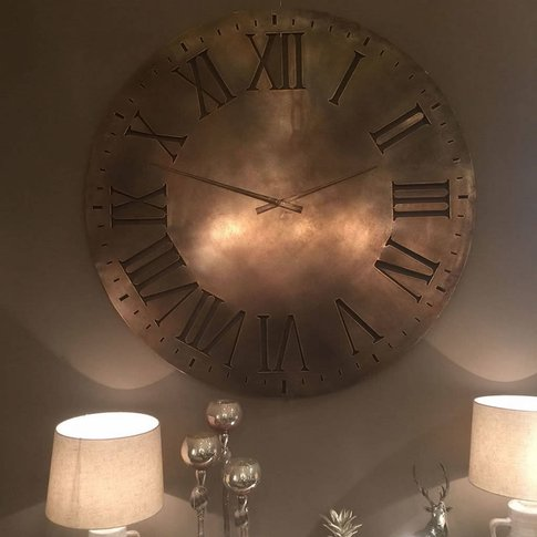 Antique Copper Oversized Wall Clock