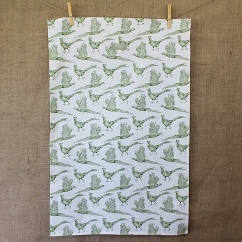 'Pheasant' Tea Towel