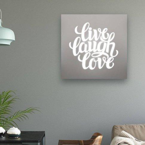 'Live Laugh Love' Illuminated Mirror