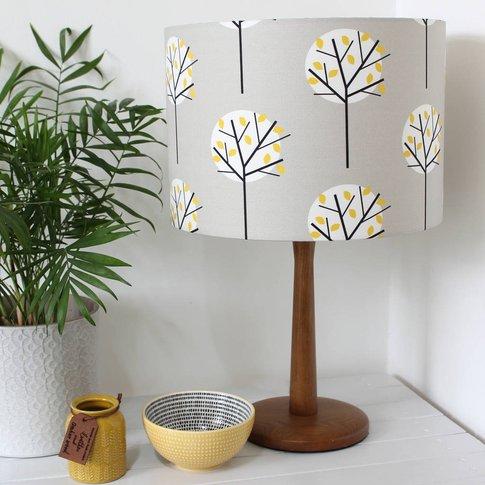 Moonlight Tree Lampshade, Grey/Olive/Green