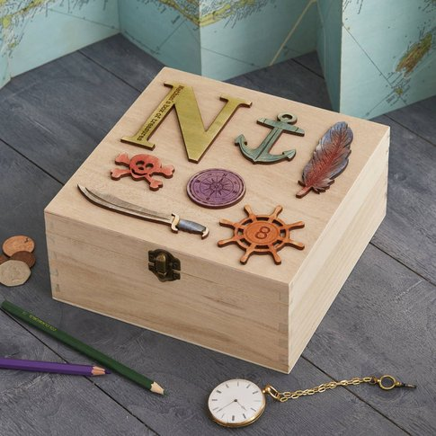 Personalised Birthday Pirate Treasure Storage Box