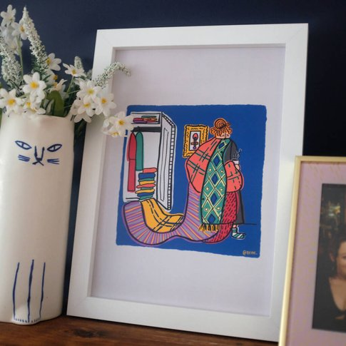 Blanket Illustrated Home Print