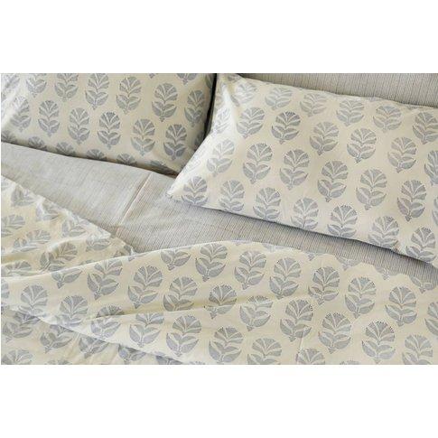 Itars Reversible Print Pillowcase Blue, Blue