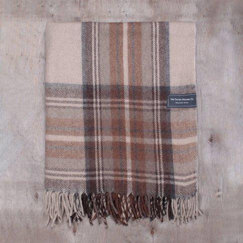 Personalised Recycled Wool Blanket In Stewart Natural
