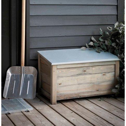 Galvanised Garden Storage Box