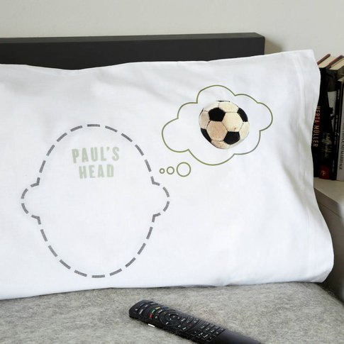 Personalised Pillowcase Football Dreams Footie Fan