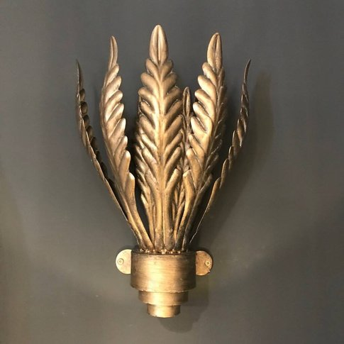 Aged Bronze Effect Leaves Electric Wall Light