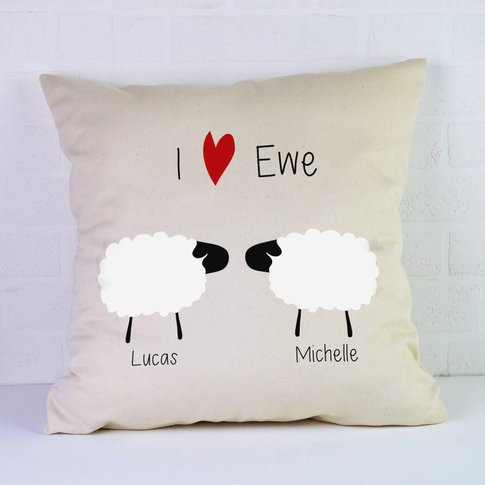 Personalised Valentines Cushion / Sheep