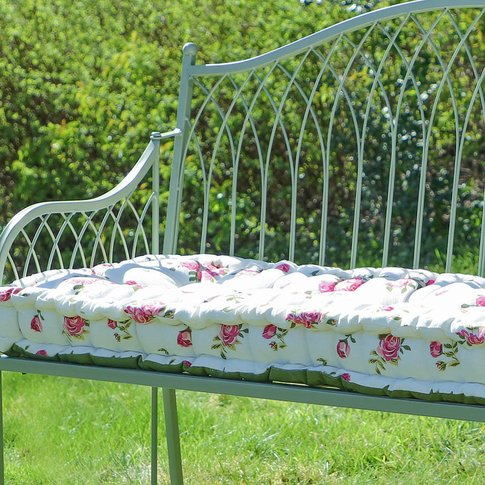 Helmsley Blush Rose Padded Garden Bench Cushion