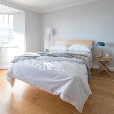 Floating Bed With Secret Bedside Table
