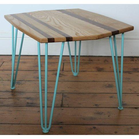 Hairpin Leg Coffee Table Solid Ash Oak Walnut Stripe