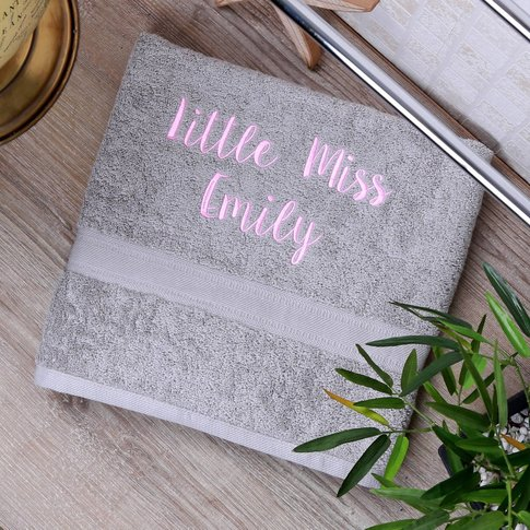 Personalised Master / Little Miss Children's Towel
