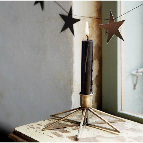 Brass Star Candle Stick