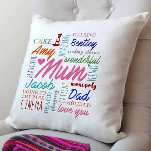 Personalised Word Art Cushion