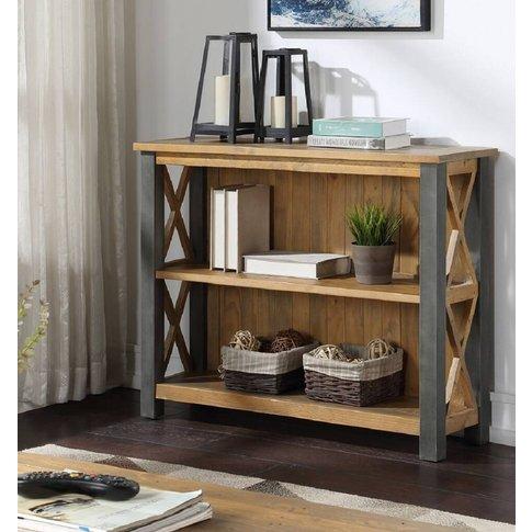 Harringay Reclaimed Wood Low Bookcase