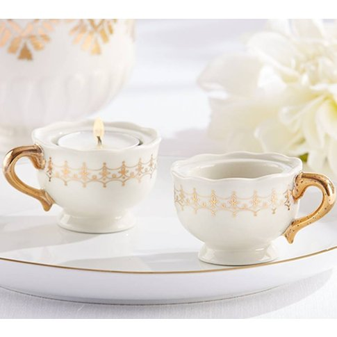 Classic Mini Gold Teacup Tealight Holder
