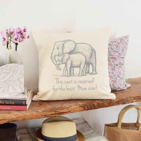 Personalised Best Mum Elephant Cushion