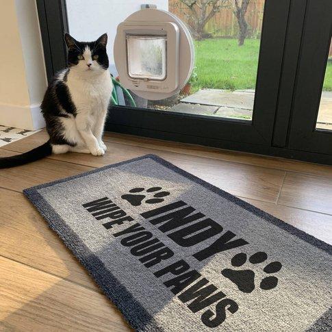 Personalised 'Wipe Your Paws' Internal Pet Doormat
