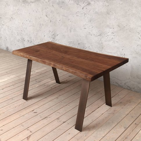 Albert Natural Walnut Dining Table A Shaped Legs