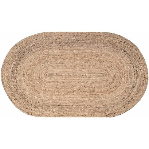 Oval Natural Jute Rug 60 X 120 Cm