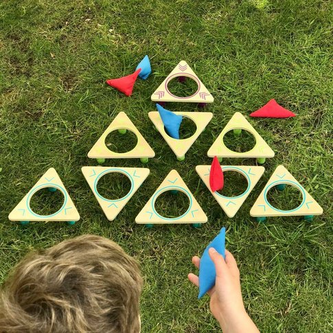 Giant Wooden Bean Bag Garden Throwing Game