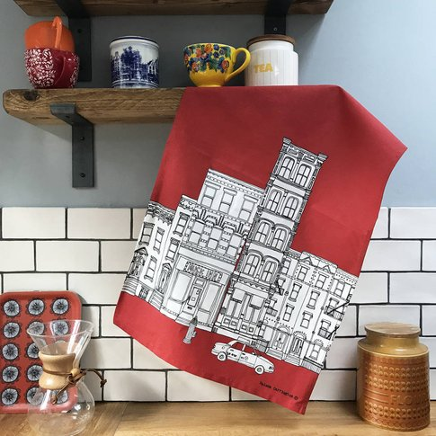 New York Skyline Screen Printed Tea Towel
