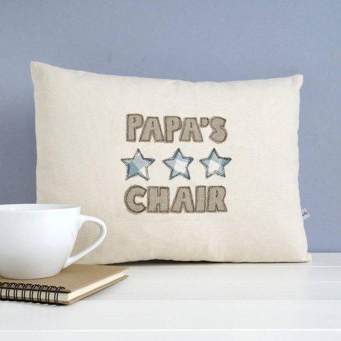 Personalised Stars Cushion Gift, Red/Blue/Lemon