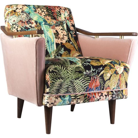Pinzon Armchair In Rainforest Rabble Velvet