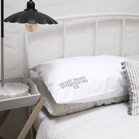 Personalised Embroidered Nickname Pillowcase