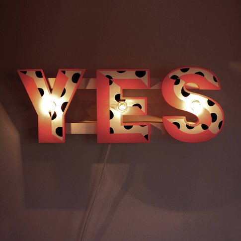 'Yes' Sign Wall Light