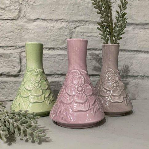Ceramic Mini Floral Decorative Vase