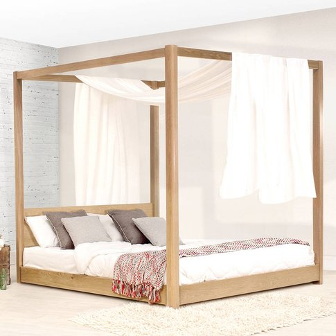 Low Wooden Four Poster Bed Frame