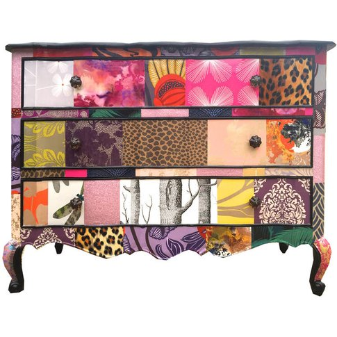 French Patchwork Chest Of Drawers